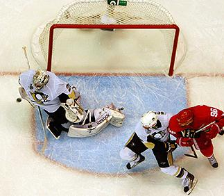 Fleury save on Lidstrom