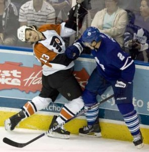 Luke Schenn will be a fixture on the Toronto blueline for sometime.  (Picture courtsy of yahoo.com)