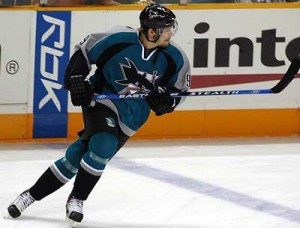 Milan Michalek is the key to this trade for the Senators. (Picture courtesy of sharkspage.com)