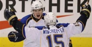 T.J. Oshie reminds some of Theoren Fleury. (Picture courtesy of Yahoo!)