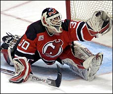 Martin Brodeur was on last night, so what will his critics think of that? (Picture courtesy of the Washington Post)