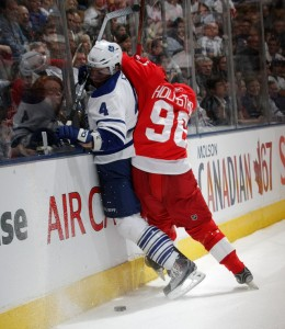 If the Leafs want to clear cap space, Jeff Finger is a prime candidate for a demotion.  (Picture courtesy of Yahoo!)