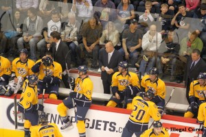 Jets and Preds 2nd Period - Barry Trotz