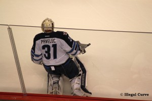 Pavelec pondering his luck