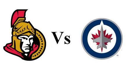 """Résultat de recherche d'images pour """"Winnipeg Jets vs Ottawa Senators"""""""