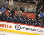 Jets bench vs. Caps