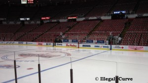 Joe Louis Arena ice