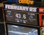 Jets Flyers Scoreboard