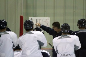 Coach Noel leads practice