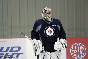 Pavelec at practice