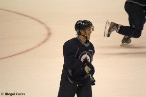 Enstrom at practice