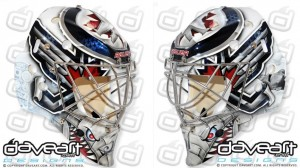Pavelec's new mask