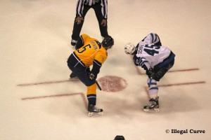 Jets and Preds - Scheifele faceoff
