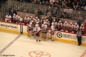 January 27, 2013 Isles bench