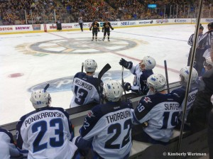 Jets vs. Bruins - Bench