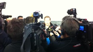 Post lockout media scrum