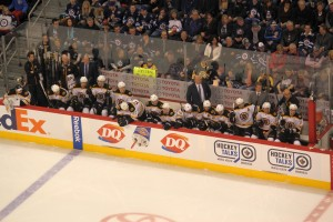 Feb 17, 2013 Bruins bench