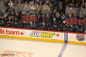 Jets bench - Feb 12, 2013