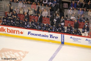 Jets bench - Feb 7, 2013