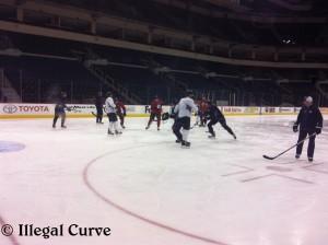 Jets practice - February 18, 2013