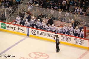 Leafs bench - Feb 7, 2013