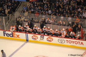 Flyers bench (April 6, 2013)