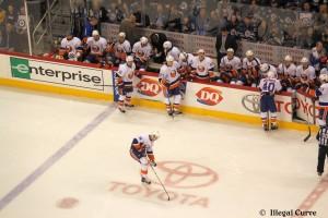 Islanders bench - April 20, 2013