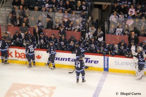Jets bench - April 20, 2013