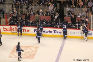 Jets bench - April 9, 2013