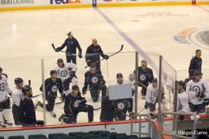 Jets optional skate (April 7, 2013)