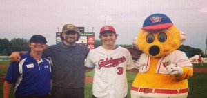 Bogosian and Trouba at Goldeyes game