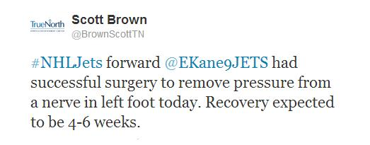Scott Brown tweet re; Kane