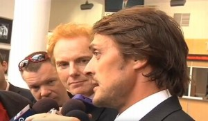 Teemu speaks following memorial service