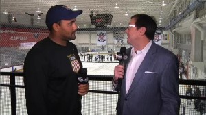 Dustin Byfuglien at Team USA Camp