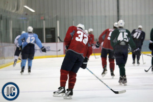 Dustin Byfuglien at 2013 Training Camp