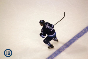 Trouba at the blue line