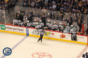 Dallas Stars bench
