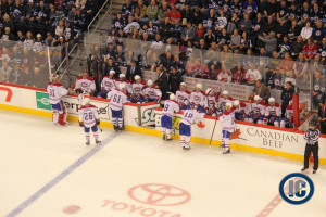 Habs bench (October 15, 2013)
