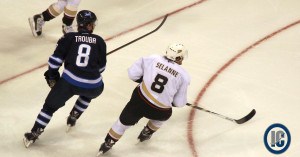 Jacob Trouba and Teemu Selanne