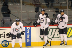 Jets at practice in October 2013