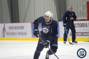 Kane practices at IcePlex