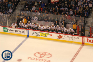 Preds bench (October 20, 2013)