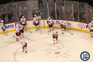 Flames warm-up
