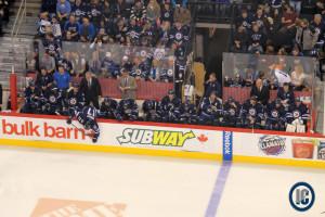 Jets bench (November 23, 2013)