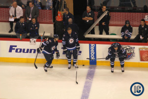 Jets pre-game warm up