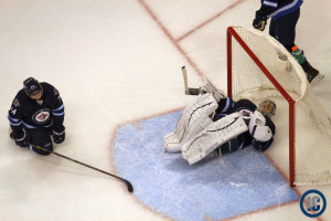 Pavelec scored on