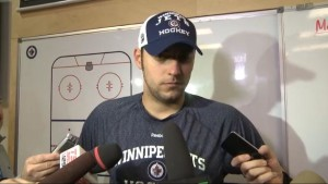 Pavelec post-practice