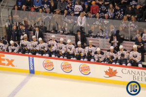 Sabres bench (Dec 31, 2013)