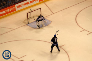 Jacob Trouba on breakaway