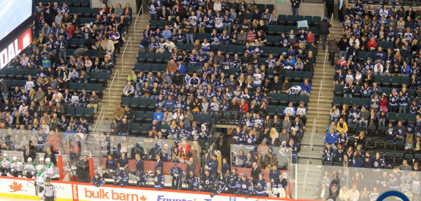 Unhappy Crowd at MTS Centre